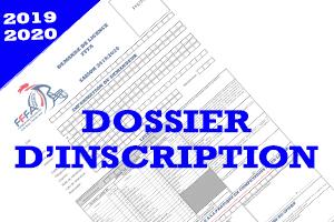 Saison 2019-2020: Dossier d'Inscription